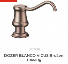 DOZER BLANCO VICUS brušeni mesing