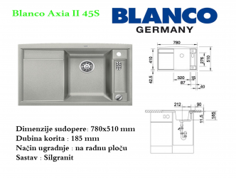 BLANCO AXIA II 45S