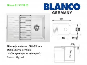 BLANCO ELON XL 6S