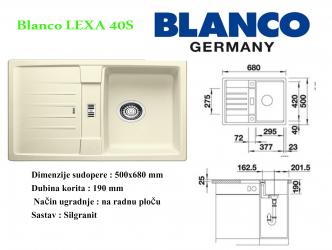 BLANCO LEXA 40S