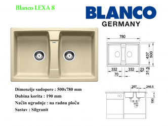 BLANCO LEXA 8