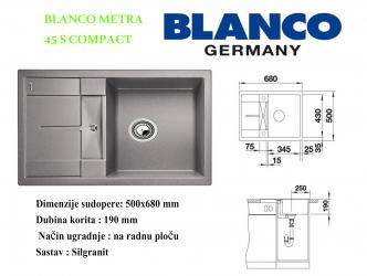 BLANCO METRA 45S COMPACT