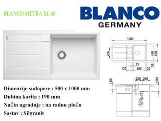 BLANCO METRA XL 6S