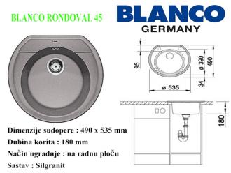 BLANCO RONDOVAL 45