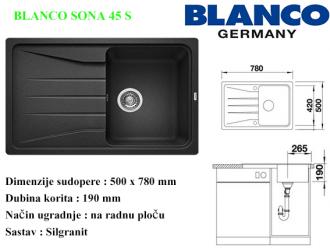 BLANCO SONA 45 S